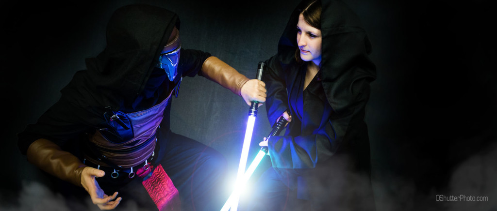 Sith and Jedi fight it out.